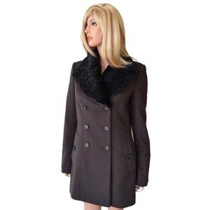 Burberry Cashmere Wool Fur Trench Coat Jacket